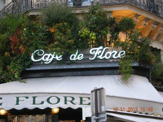 Café de Flore : Insegna esterna