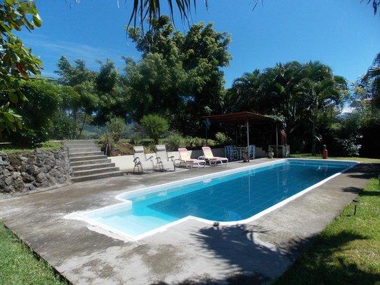 El Paraiso Verde B&B: Poolbereich mit Grill