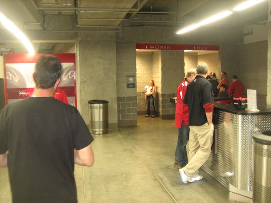 Georgia Dome: Restroom Behind Section 227