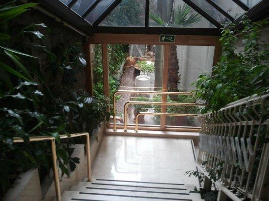 Gran Versalles Hotel : escaleras de acceso a ascensores