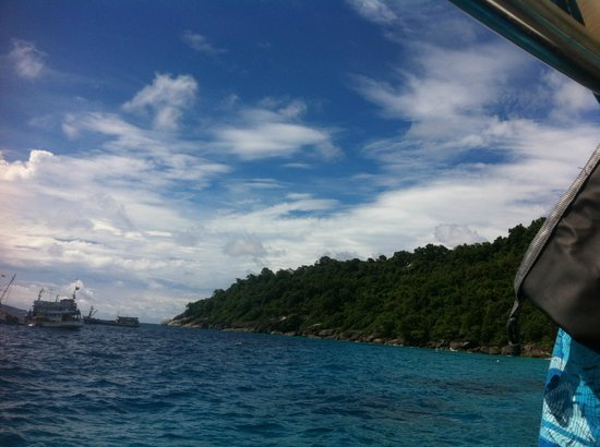 Similan Islands: blue beach and blue sky