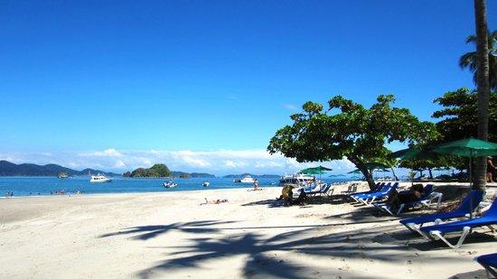 Bahia Rica Kayak and Fishing Lodge: The beach at Isla Tortuga