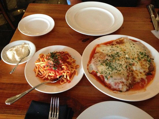 Touch of Italy: Chicken Parm, tagliatelle pasta