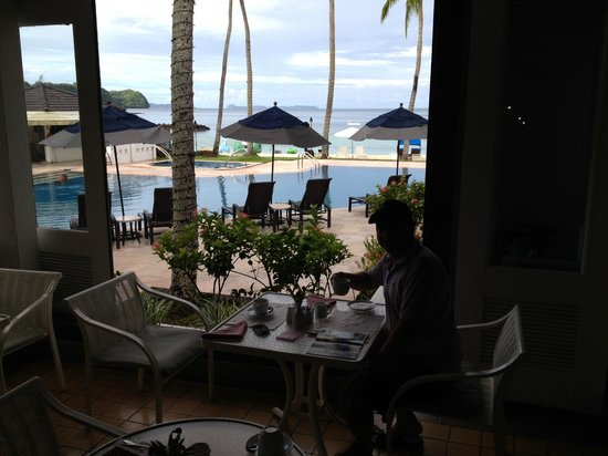 Palau Pacific Resort: And the breakfast was included, very convenient, good and big, plus nice view