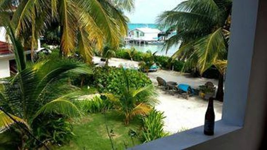 Belize Tradewinds Paradise Villas : Balcony patio view from 23B