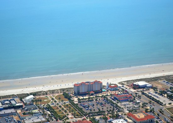 Four Points By Sheraton Jacksonville Beachfront Aerial View Of Hotel And Beach