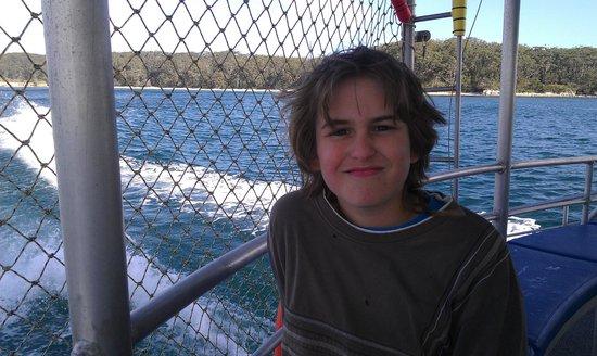 Jervis Bay Wild Cruises: Anthony enjoying the afternoon