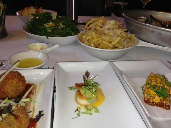 Glass Brasserie: Duck croquetas, scallop and tasty plates