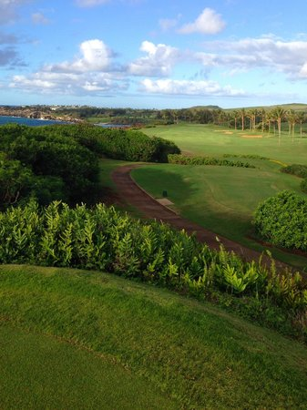 Poipu Bay Resort Golf Course: Tee off from an ancient temple overlooking the ocean
