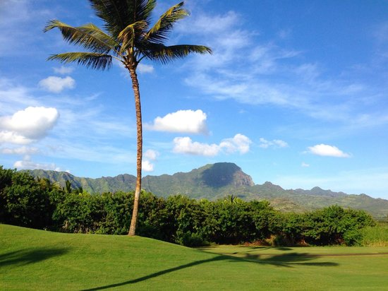 Poipu Bay Resort Golf Course: Mountain views