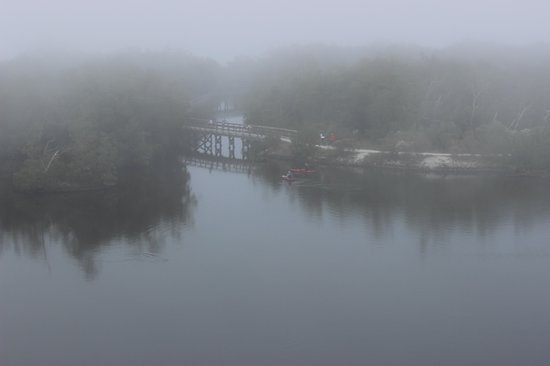 Robinson Nature Preserve: Kyaking under the fog