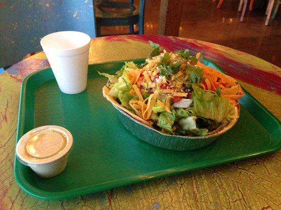 Cafe Rio: Huge taco salad!