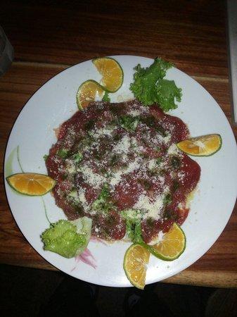 Restaurante Delicias Bahia Drake : Carpacho de res