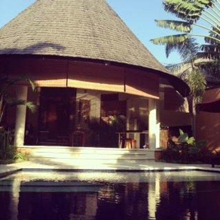 The Kunja Villas & Spa: View from the pool looking back towards villa