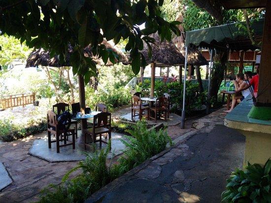 Gardena Hotel: Outside breakfast area