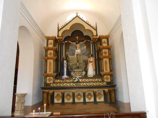 Iglesia Parroquial Mayor del Espiritu Santo : altar del cristo de la veracruz