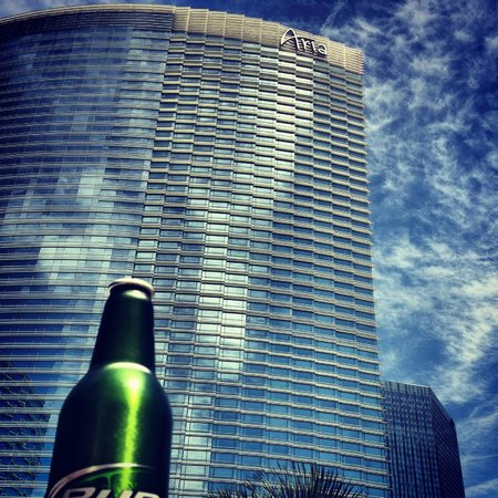 ARIA Resort & Casino : View from the pool