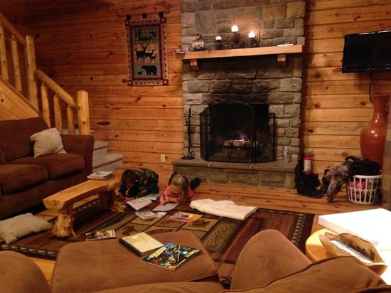 Valley View Cabins: Living Room