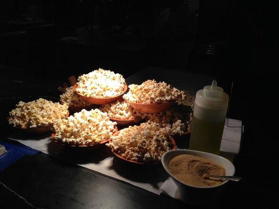 Distilled: Complimentary yeast, garlic, cumin popcorn