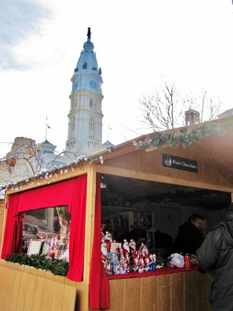 Love Park: Holiday Market Sheds