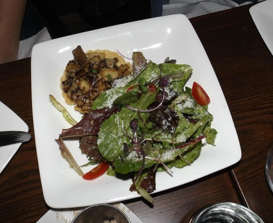 "The Nest Bistro: Forest Mushroom and Brie Tart     Sautéed mushrooms with Little Qualicum ""Island Bries"" in a sho"