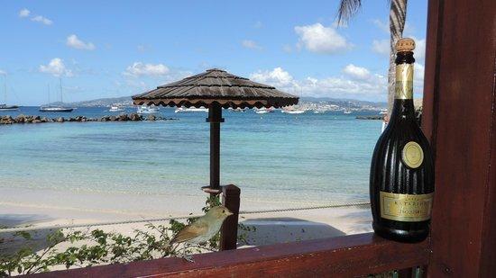 Hotel Bakoua : Vue de la suite sur la plage