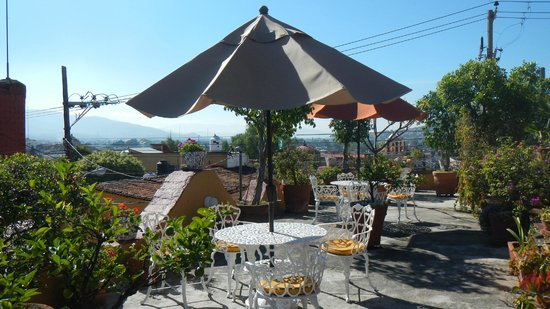 Hotel Azucenas: The fabulous terrace