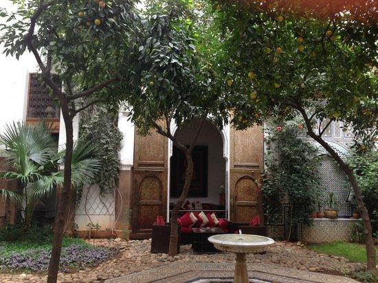 Riad Laaroussa Hotel and Spa: Garden