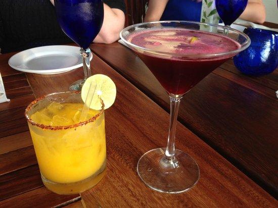 The Blue Shrimp: Specialty cocktails