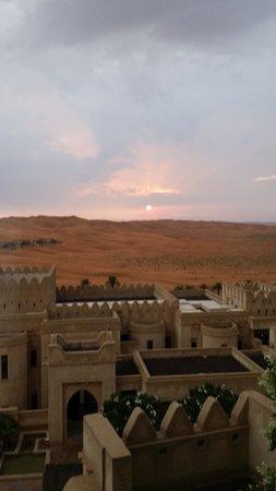Qasr Al Sarab Desert Resort by Anantara: View from our bedroom. Sunset