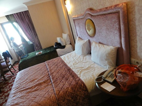 Best Western Antea Palace Hotel & Spa: Our bedroom before the kids tore it apart