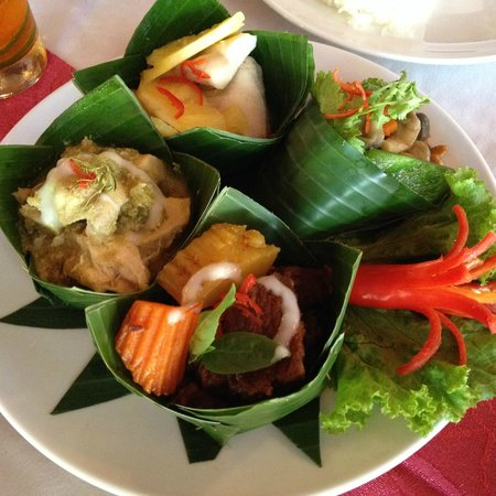 Bopha Angkor Restaurant: Attractively presented set menu for one