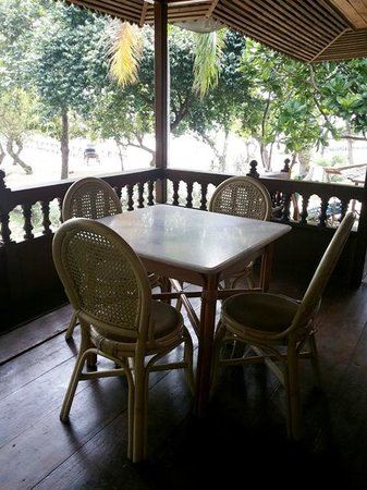 Pulau Bidadari Resort: nice terrace at the cottage