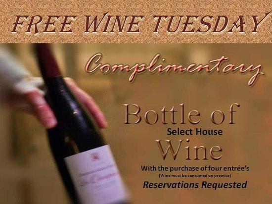 Fine Singer Island: Free Wine Tuesday