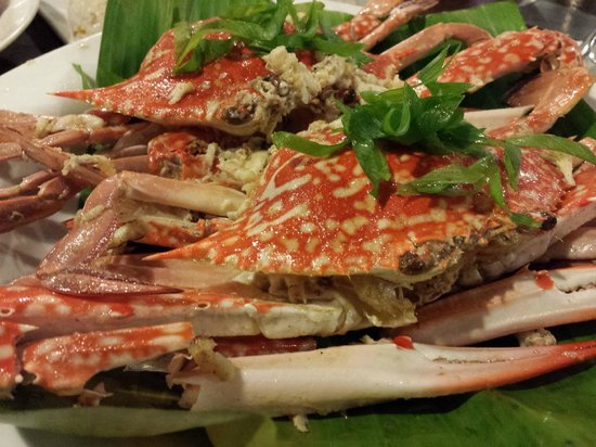 Ocho Seafood Grill : Crab dish with coconut I think