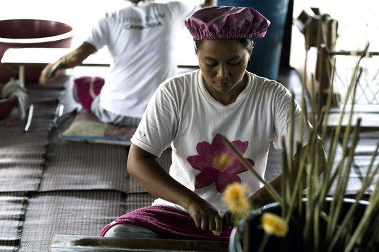 Lotus Farm by Samatoa: Khmer complexion has a beautiful tone to it.  Dark and pinkish.