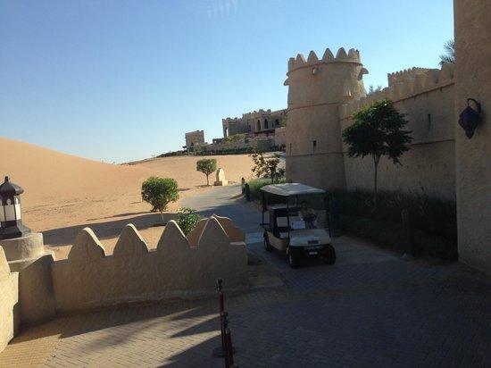 Qasr Al Sarab Desert Resort by Anantara: Traveling with buggies
