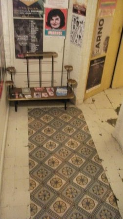 Barnini: The nice floor tiles in the cellar and a few vintage posters