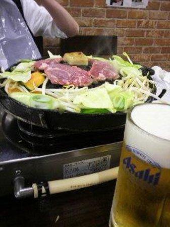 Fukuroutei : ジンギスカンには生ビール!
