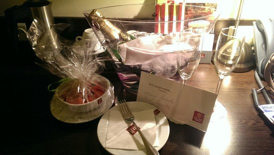 Clarion Hotel Prague City : Our welcome present