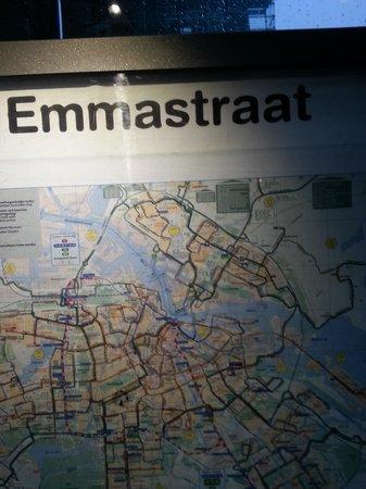 Hilton Amsterdam: Emmstraat Tram Stop for Hilton