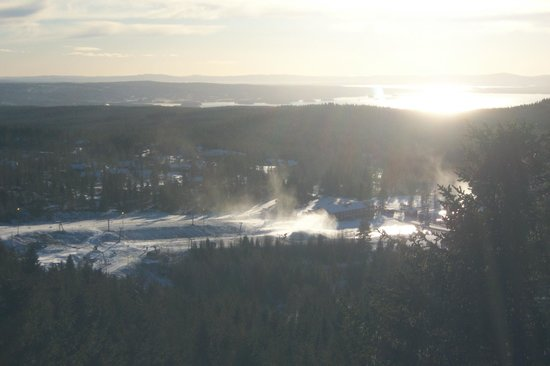 Orsa Bjornpark: view from the very top