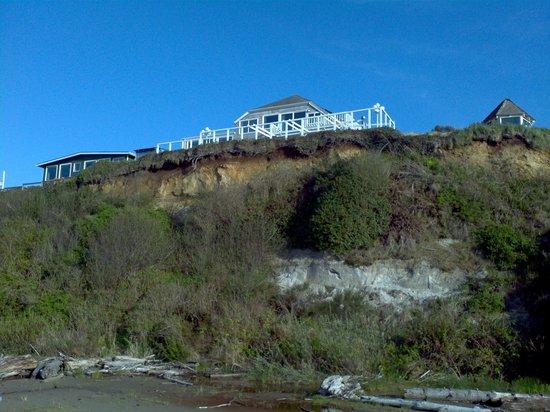 Cliff House Bed & Breakfast : Vue depuis la plage