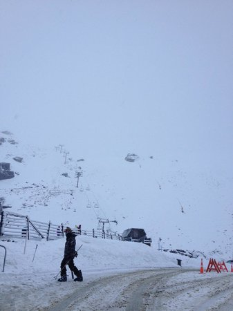 The Remarkables Ski Area: View from Base on Powder Day