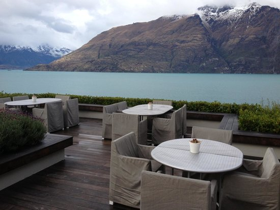 Matakauri Lodge : View from Outside Breakfast Area