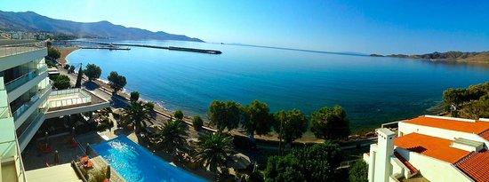 Anastasia Hotel Karystos: Panoramic Balcony view