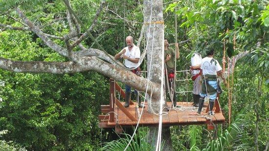 Amazonia Expeditions' Tahuayo Lodge: Canopy zip slide