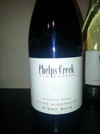 Phelps Creek Vineyards: Pinot Noir