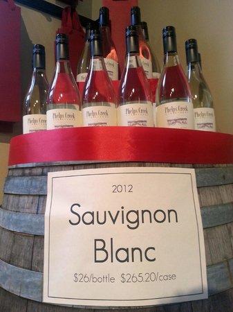 Phelps Creek Vineyards: Sauvignon Blanc