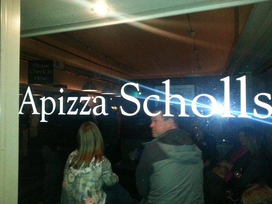 Apizza Scholls: Outside Sign